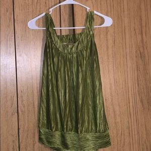 Green tank top blouse